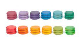 Grapat Houten Speelgoed 36 x Munten (12 kleuren)