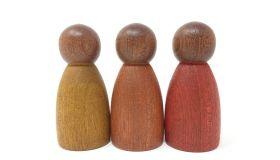 Grapat Houten Speelgoed 3 x Warme Donkere Nins