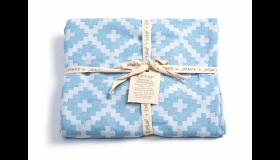 KipKep Blenker handdoek Large Niagara Blue - 170x100cm