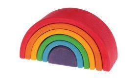 Grimms Regenboog 6-delig Middel houten speelgoed