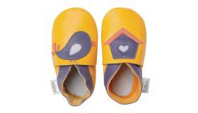 Bobux Babyslofjes Vogel(huisje) geel