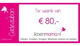 Digitale Cadeaubon €80,-