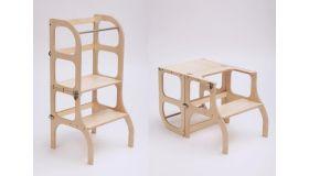 Ette Tette Leertoren Step'n Sit - Inklapbaar tot tafel en stoel - Naturel