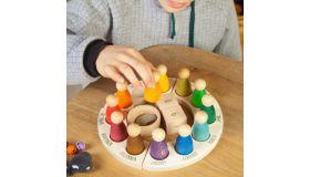 Grapat Speelgoed  Jaarring met poppetjes Engels