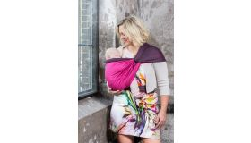 Pure Baby Love Draagdoek luxury fuchsia/dark grey