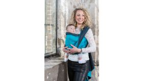 Pure Baby Love Draagdoek luxury turkois/dark grey